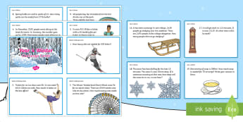 Year 4 Winter Themed Challenge Cards - Winter 2016/17, winter theme challenge cards, Year 4 maths, year 4 maths challenge, New Year maths,