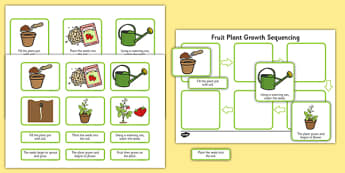 Plant Growth Sequencing Activity - plants, flowers, grow, growing