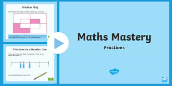 Maths Mastery Fractions PowerPoint - grade 3, grade 4, fractions, fraction of amounts, Australia
