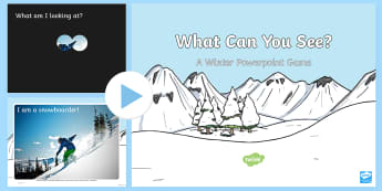 Winter What Can you See? PowerPoint