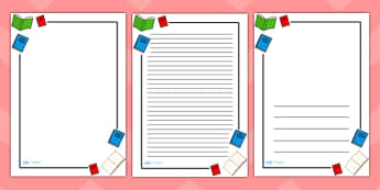 Literacy Page Borders - Literacy, writing, page border, a4 border, template, writing aid, writing border, page template, foundation literacy