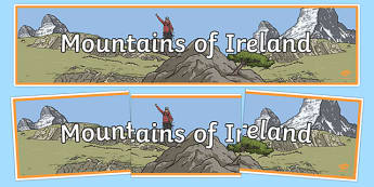 Mountains of Ireland Display Banner-Irish