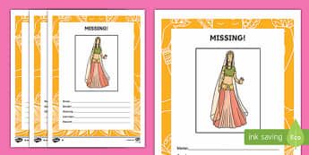 Sita Missing Person Poster Activity