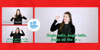 How to Sign Jingle Bells Christmas Carol with British Sign Language (BSL) Video - twinklgo, twinkl go, go, video, british sign language, makaton songs, advent makaton, makaton jingle bells, jingle bells makaton, jingle bells bsl, jingle bells sign la