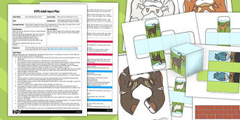 Billy Goats Gruff Bee Bot Activity EYFS Adult Input Plan and Resource Pack