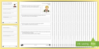 Character Revision Worksheet / Activity Sheets to Support Teaching on 'Great Expectations' by Charles Dickens - Secondary - 15 Minute Revision Activities, Charles Dickens, Great Expectations, Characters, Characte