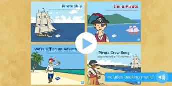 Pirate-Themed Songs and Rhymes PowerPoints Pack