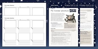 John Lewis My Monster Adventure Lesson Plan - Moz The Monster, John Lewis, Christmas 2017, Christmas, Moz, Advert, Imagine, Monster, Monster Under
