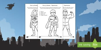 Superheroes Color by Number - Superheroes Color by Number - color, number, superheroes, super, superhereos, coloyr by number, supe