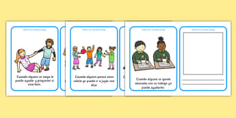 How To Be A Good Friend Cards Spanish - spanish, how to be a good friend, friendship, friends, cards, flashcards, good, behaviour, friend, relationship