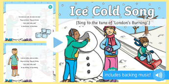 Ice Cold Song PowerPoint - opposites, early learning, toddler play, singing time, action, nursery rhymes