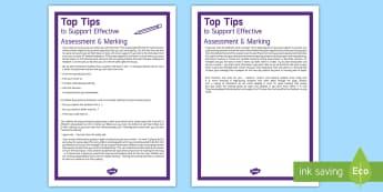 Probationer Effective Marking and Assessment Top Tips - probation, probation year, NQT, new year, new teacher,Scottish