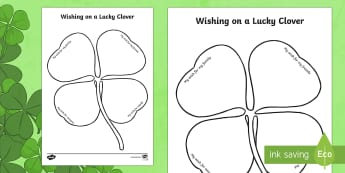 Wishing on a Lucky Clover Activity Sheet - Saint Patrick's Day, lucky, clover, shamrock, lucky clover, wish, writing frame, writing activity,
