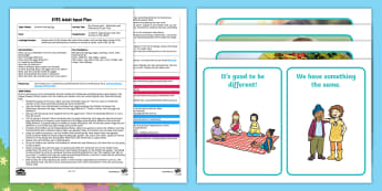 EYFS My Friends and I - Similarities and Differences Circle Time Adult Input Plan and Resource Pack - Brenda's Boring egg, Twinkl Originals, Twinkl Fiction, story, EYFS, Early Years Planning, Adult Led