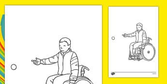 The Paralympics Boccia Colouring Sheets - Boccia, ball, Paralympics, sports, wheelchair, visually impaired, colouring, fine motor skills, poster, worksheet, vines, A4, display, 2012, London, Olympics, events, medal, compete, Olympic Games