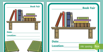 School Book Fair Display Poster - Twinkl Teacher Requests, book fair, books, school fair, sale, advertise, poster