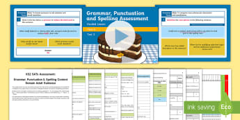 SATs Survival Year 6: Grammar, Punctuation and Spelling Test 3 Bumper Assessment Pack - Year 6 SPaG Guided Lesson PowerPoints and Packs, Year 6, SATs, Y6, revision, SPaG, GPs, grammar, pun