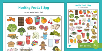 Healthy Food I Spy - Nutrition, Diet, eating, unhealthy, 5 a day, fruit, vegetables, sugar,