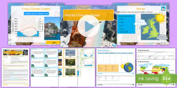 Weather and Climate Lesson 11: World Climate Zones Lesson Pack - Weather, Climate, Polar, Temperate, Tropical, Mediterranean, Arid, Mountain, Climate Zone