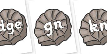 Silent Letters on Fossils - Silent Letters, silent letter, letter blend, consonant, consonants, digraph, trigraph, A-Z letters, literacy, alphabet, letters, alternative sounds