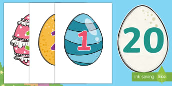 Brenda's Boring Egg Number Display Cut-Outs - KS1, EYFS, numbers to 20, maths display, number display, twinkl fiction, eggs, hatching, duck life c
