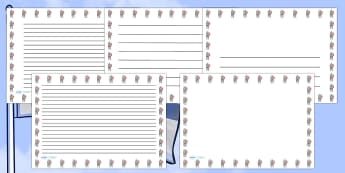 St George Knight Landscape Page Borders- Landscape Page Borders - Page border, border, writing template, writing aid, writing frame, a4 border, template, templates, landscape