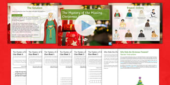 The Mystery of the Missing Christmas Presents English Activity Pack - Christmas, investigation, seasonal, festive, end of term activity, group activity, team activity, ch