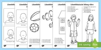 Bileog Oibre: Léamhthuiscint - Léamhthuiscint bileog oibre, reading comprehension, gaeilge, irish, léigh agus dathaigh, read and