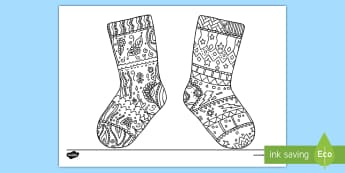 Odd Socks Mindfulness Colouring Page - Stripes, Stars, Key Stage One, Clothing, Colourful, Mindfulness, Colours, Design, Anti Bullying
