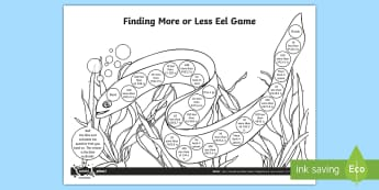 Finding More or Less Sea Life Board Game - 10 more, 10 less, 100 more, 100 less, decimal numbers, place value