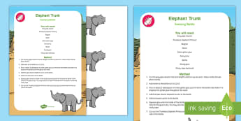 Elephant Trunk Sensory Bottle - jungle, animal, zoo,, elmer, david mckee, safari, safari park, the large family, dumbo, babar