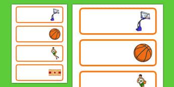 Basketball Themed Labels - usa, nba, basketball, national basketball association, labels