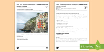 Home, Town, Neighbourhood and Region 1 Foundation Tier Photo Card Activity Spanish - speaking, practice, oral, picture, illustration,  revision, skills, city, village