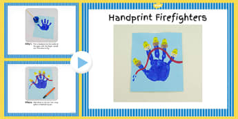 Handprint Firefighters Craft Instructions PowerPoint - craft