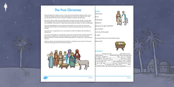 Nativity Comprehension Questions and Cloze Activity - Nativity Story, First Story, Christmas, Reading , Comprehension Questions, Cloze Activity