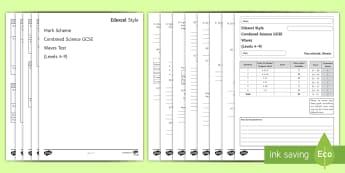 Edexcel Style GCSE Combined Science Waves Test - electromagnetic waves, longitudinal, transverse, frequency, amplitude, gcse, exams, exam preparation