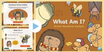 Don't Hog the Hedge! What Am I? British Woodland Animals PowerPoint - Twinkl Originals, Fiction, Autumn, Hibernate, Woodland, Animals, riddles, clues, description, britis