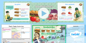 French: That's Tasty!: Sandwiches Lesson Pack 4 - french, languages, grammar, food, sandwiches