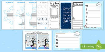 KS1 Snow Day Activity Pack - ks1, snow, activity pack, activity, pack