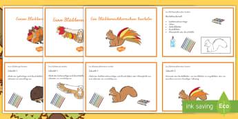 Blättertiere Materialienbündel - Herbst, Tiere, Wald, Jahreszeiten, Blätter, Laub, Basteln, Handarbeit, ,German