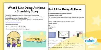 Computing: PowerPoint Presentation Skills Year 3 Unit Home Learning Tasks