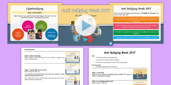 KS2 Anti Bullying Week 2017 Assembly Pack - keeping ourselves safe, online safety, cyberbullying, keeping safe online, all different, all equal.