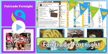 KS1 Fairtrade Fortnight Resource Pack - fair trading, world, farming, fair, chocolate, coffee, bananas