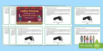 Nine Ladies Dancing Challenge Cards English/Afrikaans - numbers, Math, numeracy, measurement, nommers, Wiskunde, meet, EAL
