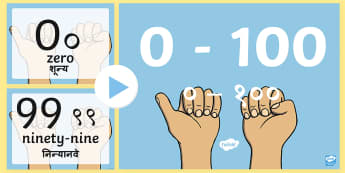 0 to 100 Numerals and Words Maths Counting PowerPoint English/Hindi - Hindi, countng, couting, numberals, coutning, matsh, xounting, pp, ppt, EAL, translated, translation
