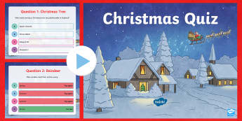 Christmas Quiz PowerPoint -  Christmas, quiz, christmas around the world, christmas trivia,
