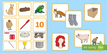 Rhyming String Cards - rhyme, rhyming, rhyming image cards, rhyme matching cards, rhyme image matching cards, CVC and CVCC words, rhyme activities, english