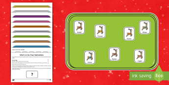 What's on the Tray? Christmas Reindeers Memory Activity Pack - memory games, memory, memory game, memory activities, memory games for kids, auditory memory activit