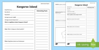 Australian States and Territories – Kangaroo Island Fact File - Year 3, three, ACHASSK066, Australian Curriculum, Geography, South Australia, language, Vocabulary,