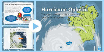 Storm Ophelia PowerPoint - ROI, weather, conditions, adverse weather, wind, school closure